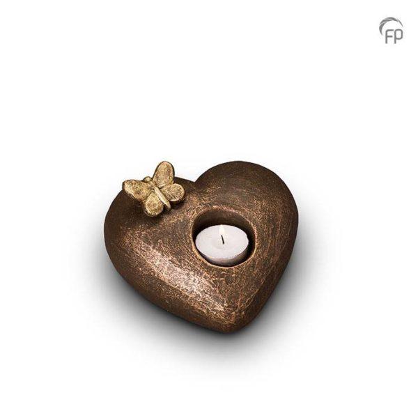 Keramische urn brons Tederheid