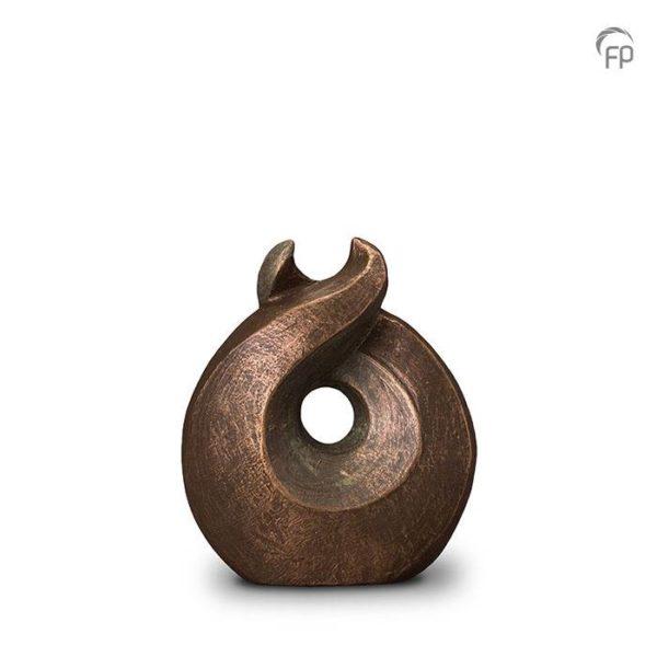 """Keramische urn brons """"Licht"""""""