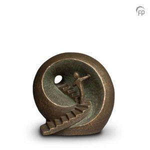Keramische urn brons Naar het licht